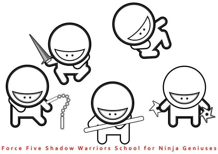 Force Five Shadow Warriors School for Ninja Geniuses -The Sequel